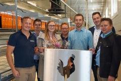 Franz Doppelmair mit dem STERRER Team und Big Dutchman Vertretern